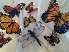 repurposed pop bottle butterflies