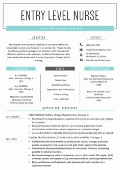 Nursing Resume Examples with Clinical Experience New Entry Level Nurse Resume Sample Student Nurse Resume, New Grad Nursing Resume, Nursing Resume Examples, New Grad Nurse, Registered Nurse Resume, Nursing Resume Template, Nursing School Notes, Nursing Tips, Nursing Students