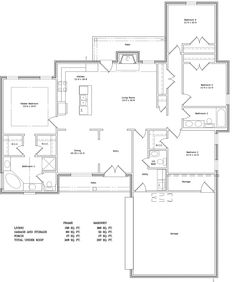 3 bedroom floorplans bedroom 2 bath floor plans for Home designs jackson ms