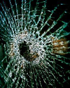 Abstract broken Photograph glass broken heart smash destroyed window green cube square crack anti modern - Shattered - fine art photo via Etsy