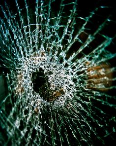 Abstract broken Photograph glass broken heart smash destroyed window green cube square crack anti modern - Shattered - fine art photo via Etsy