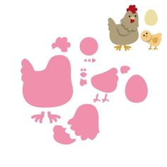 Collectables dies from Marianne Design feature cutting dies with matching clear stamps and 'layered' cutting dies designed for use with felt and paper. There are instructions for using the dies with the die cutting systems. This die set consists of fifteen dies. The mother hen die measures approximately 60mm x 60mm. As well as cutting papers and thin card, this die set will also cut our 100% wool, De Witte Engel TrueFelts.