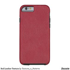 Red Leather Texture Tough iPhone 6 Case  #red #leather #texture #structure #iphone6 #iphone #case #faishonable