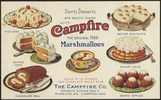 Dainty Desserts are easily made with Campfire Marshmallows, the original food [front] | Flickr - Photo Sharing!