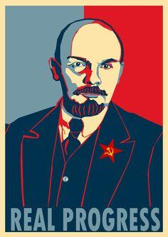 Lenin Progress poster by Party9999999.deviantart.com on @deviantART