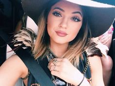 Kylie Jenner: Wearing Lancome Star Mascara and Mac Velvet Teddy Lipstick.