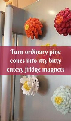 Turn Ordinary Pine Cones Into Itty Bitty Cutesy Fridge Magnets