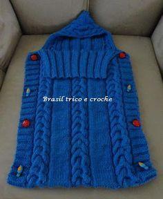 Brasil Tricô & Crochê - Handmade: Porta bebê - saco de tricô