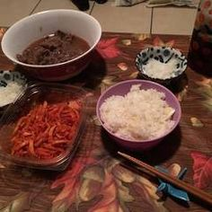 Homemade Yoshinoya-Style Gyudon (Beef Rice Bowl) Recipe by cookpad. Beef Rice Bowl Recipe, Gyudon, Ginger Beef, Pickled Ginger, Beef And Rice, Cook Off, Time To Eat, Rice Bowls, Great Recipes
