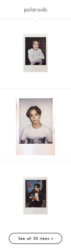 """""""polaroids"""" by eggtartt ❤ liked on Polyvore featuring vintage, polaroid, photography, polaroids, seventeen, kpop, vernon, backgrounds, pictures and fillers"""