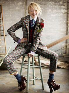 Emma Stone by Mario Testino, New York, for American Vogue, 2012