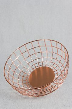 """Beautifully simple and elegant """"Copper Wire Bowl"""" from Beam & Anchor."""