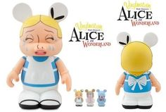 """DISNEY Vinylmation 'Crying' Alice in Wonderland 9"""" figure with 3 JRs WDW NEW!"""
