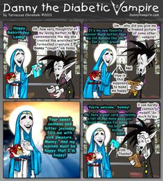 """Danny receives a heaping helping of shame and obligatory favors to return all wrapped up as a rebirthday """"gift"""" from his soul-sucking creator, Mother Magnanimous. The Creator, Favors, Comic Books, Adventure, Comics, Gifts, Art, Art Background, Presents"""