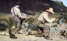 #113. The Stone Breakers. Gustave Courbet. 1849 CE (destroyed 1945). Oil on canvas.