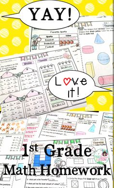 Math homework for the entire year! Each day of the week addresses one of the 4 Common Core math domains for a continuous review year round! One page per week! Parents, children, and teachers LOVE this bundle! Check it out now and get a FREE two-week sample!
