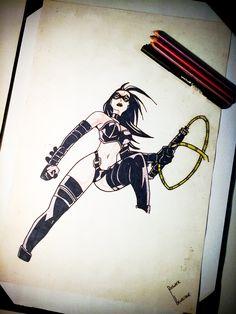 Desenho feito por mim, quando eu tinha entre 14 e 15 anos...