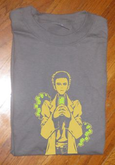 Custom fanmade Steins Gate Steins Gate Okabe el Psy Congroo T-Shirt - so hard to…