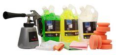 CLEANPRODUCTS Fahrzeug-Innenreinigung + Pflege - SET  Spezielles 12-teiliges Fahrzeugpflege-SET für die Fahrzeug-Innenreinigung und Pflege. 2,5 kg Innenreiniger-Konzentrat für Stoff, Kunststoff, Gummi, Aluminium, Plexiglas, Leder, Alcantara, Velours, Holz und vieles mehr. Auch zur Polsterreinigung (Reinigen von Autositz, Autopolster, Dachhimmel) und Teppichreinigung geeignet. 2,5 Liter Glasreiniger zur mühelosen Entfernung von Insektenreste,Vogelkot,Öl,Ruß u. Schmutz. 2,5 Liter…