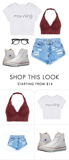 """I REALLY wish it was summer rn"" by kamdanielson ❤ liked on Polyvore featuring WithChic and Converse"