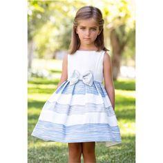 Vestido de arras y ceremonia 2016 de niña de AMAYA, modelo 97633, mejor precio, Alpi Moda Infantil Valladolid,www.alpinet.es