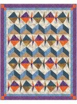 """Keep Swimming Batik Quilt by Denise Russell /51""""x64"""""""