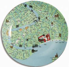 19 best seletti images on pinterest dinnerware porcelain and seletti map plates gumiabroncs Gallery