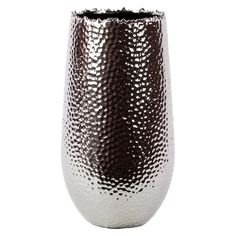 Update your home decor with this stylish silver ceramic vase. This vase is for decorative purposes only and does not hold water.