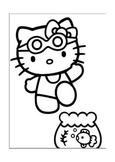 Coloriage Dessins. Hello Kitty 21