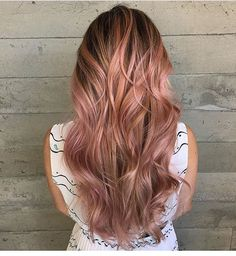 Rose Gold... By Butterfly Loft stylist Lizbeth @vivalahairrr