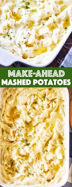 Five Approaches To Economize Transforming Your Kitchen Area Make-Ahead Mashed Potatoes - Creamy, Buttery Mashed Potatoes That Can Be Made Up To Three Days Ahead And Heated Before Serving To Save Time. Potato Vegetable, Vegetable Side Dishes, Side Dishes Easy, Side Dish Recipes, Vegetable Recipes, Dinner Recipes, Make Ahead Mashed Potatoes, Cheesy Potatoes, Baked Potatoes