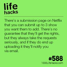 Netflix Has A Submission Page - 1000 Life Hacks - Hochzeitstipps