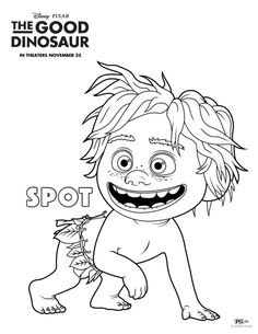 Free Disney The Good Dinosaur Spot Coloring Page