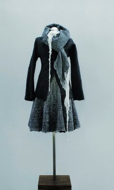 Fashioning Felt/Dress and jacket. Designed by Christine Birkle. Manufactured by Hut Up. Germany, winter 2007–08. Wool, cotton