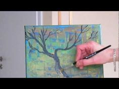 Tanja Bell  Abstract Art How to Paint  Tree  Branches Tutorial Simple Pa...