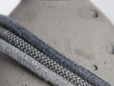 Recommended cables for our grey concrete lamps  #concrete #lamps #braided #cable #loftlight