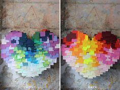The House That Lars Built.: How to make a post-it heart pinata