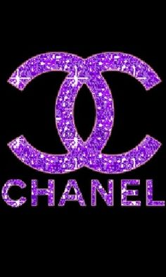 Coco Chanel logo in purple crystals ♥✤   Keep the Glamour   BeStayBeautiful