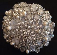 ❤️ Bridal Wedding Circular Crystal Pearl Bouquet - Simple and Stunning | eBay