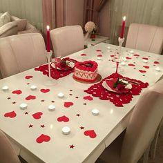 ideas birthday surprise ideas romantic date nights Romantic Room, Romantic Night, Romantic Dates, Romantic Dinners, Romantic Ideas, Valentines Day Decorations, Valentines Diy, Valentine Day Gifts, Pinterest Valentines