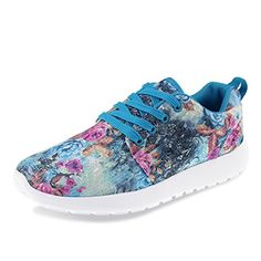 Hawkwell Women Lady Fashion Lightweight SNEAKERS Floral Printed Sports Outdoor for sale online Kids Football Shoes, Soccer Shoes, Colorful Sneakers, Casual Sneakers, Womens Fashion Sneakers, Fashion Shoes, Style Fashion, Spring Fashion, Waterproof Sneakers