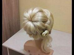 Французская коса в обратном положенииЛегкий способ самой себе сделать косу.Коса на резинках. - YouTube