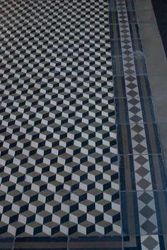 Paseo del Buen Pastor Córdoba Hall Tiles, Geometric Tiles, Entrance Hall, Tile Design, Tile Floor, Marble, Art Deco, Interior Design, Bathroom