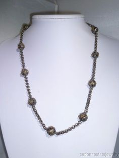 KONSTANTINO Silver 925 18K GOLD Beads Chain Necklace  #KONSTANTINO #ChainNecklace