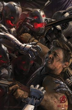 Another concept art poster for The Avengers: Age of Ultron, featuring Hawkeye.