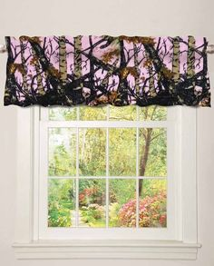 """Regal Comfort """"The Woods"""" Pink Camo Valance - home decor and gifts under 20 dollars - Stocking Stuffer -  #stockingstuffer #giftideas #christmasgiftideas Christmas gift idea under $20"""