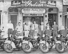 Indian Motorcycle Dealership Washington DC **VIEW More Antique Motorcycle… Vintage Indian Motorcycles, Antique Motorcycles, Vintage Bikes, Vintage Cars, Vintage Photos, Indian Motorbike, Triumph Motorcycles, Ducati, Motocross