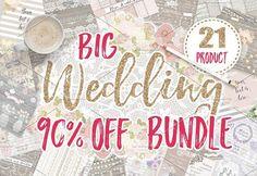 BIG WEDDING BUNDLE by burlapandlace on @creativemarket