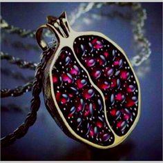 pomegranate necklace! loveeee