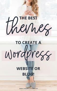 The Best Themes to Create a WordPress Website or Blog! Are you struggling to find your perfect theme on Wordpress? It's easy to get caught up in the number of options, and which one is best for your business! We've got you covered! We discuss only the best Wordpress themes for your particular blog or business, and where you can find them! // Lady Boss Studio -- #WordpressTheme #BloggingForBusiness #WordpressTips